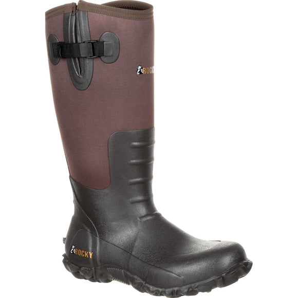 Rocky Core Rubber Waterproof Outdoor Boot (Brown)