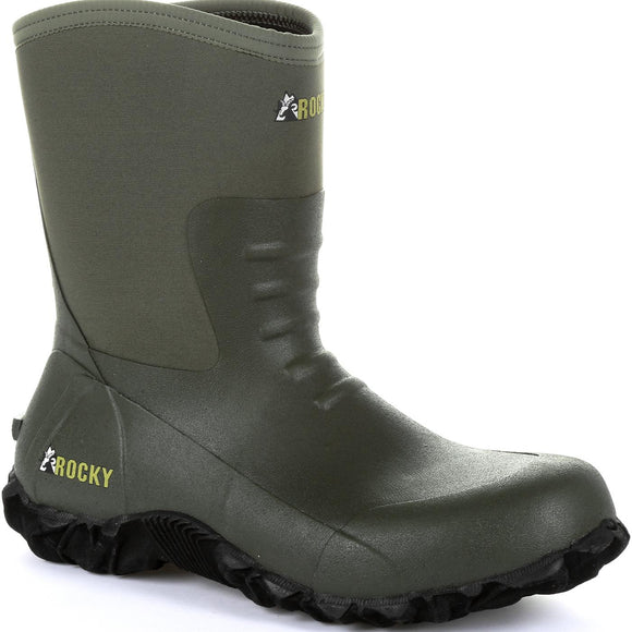 Rocky Core Chore Rubber Waterproof Outdoor Boot (Olive)