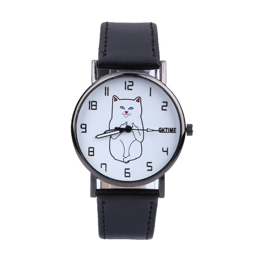 Brand Fashion Cat Watch