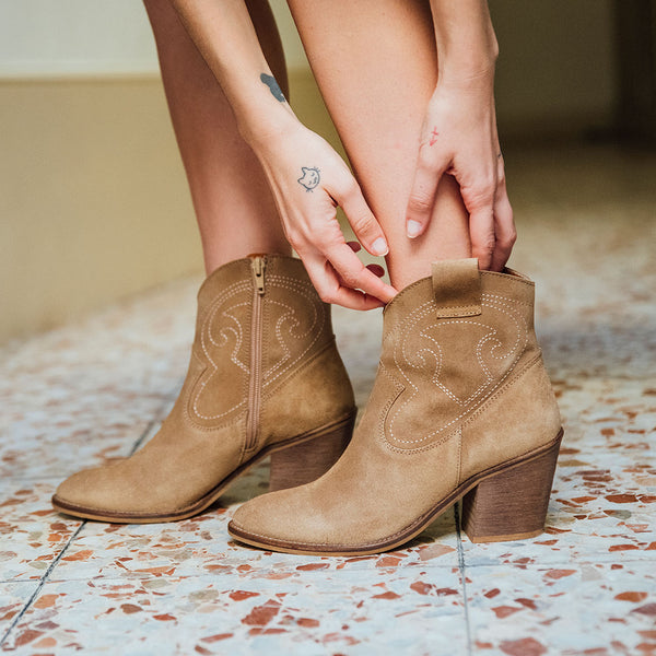 Soft brown western boots - BROOKE - Bryan Stepwise