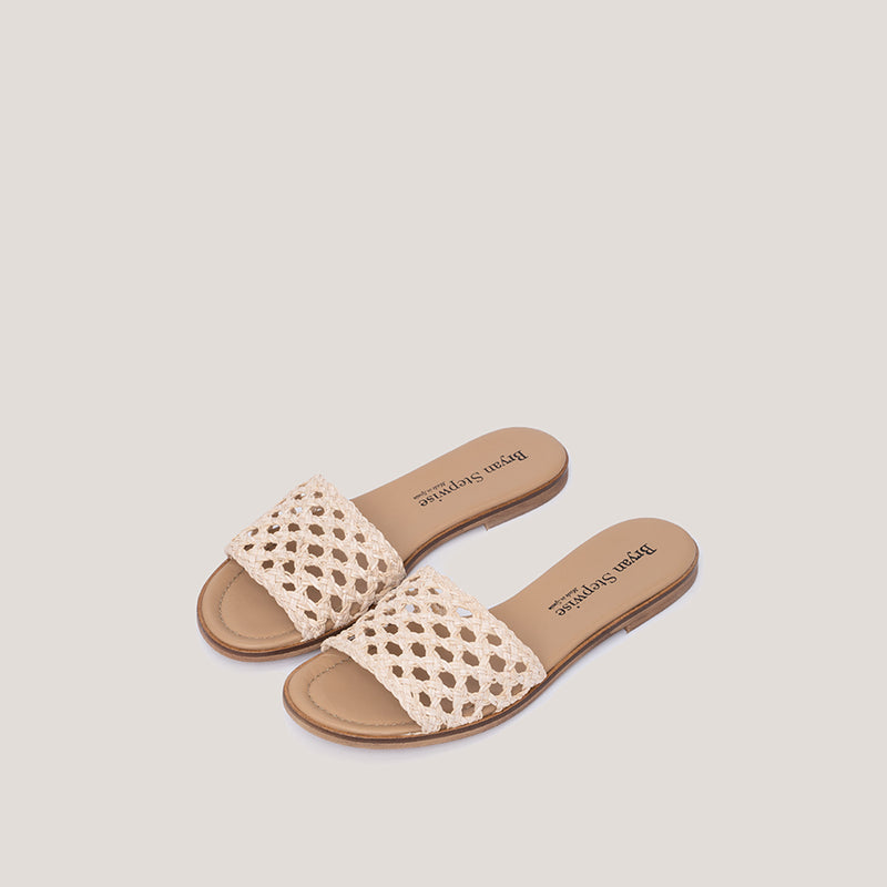 White braided sandal - ERMINE - Bryan Stepwise