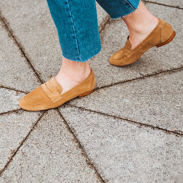 Tan suede loafer -  JUNO - Bryan Stepwise