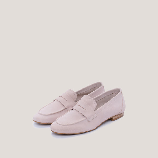 Nude suede loafer - JUNO - Bryan Stepwise
