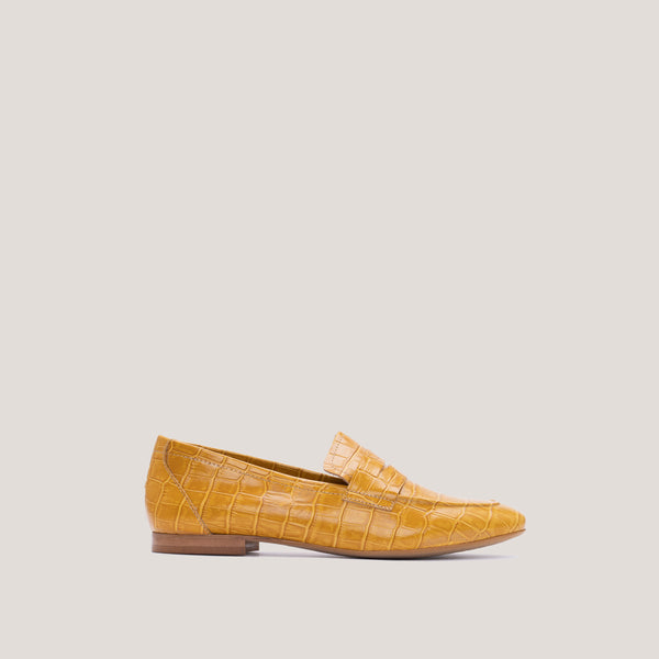 Yellow croc loafer -  JUNO - Bryan Stepwise