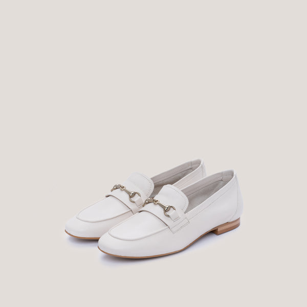 Offwhite leather loafer - JUNO - Bryan Stepwise