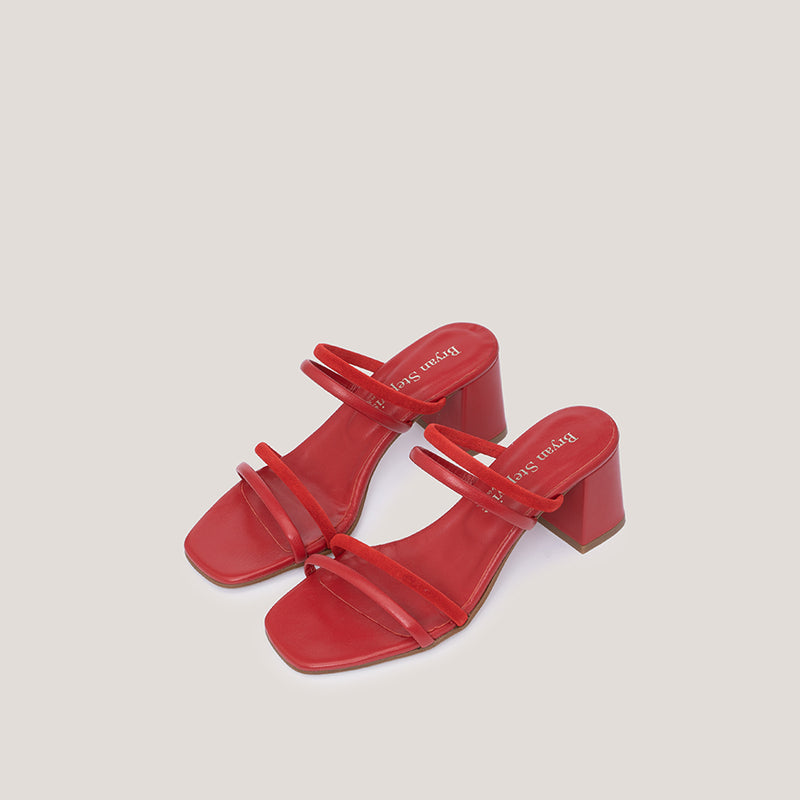 High heel strappy red sandals - NOLITA