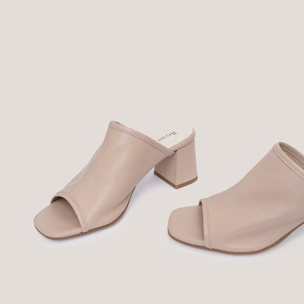 High heel nude leather mule - Paloma