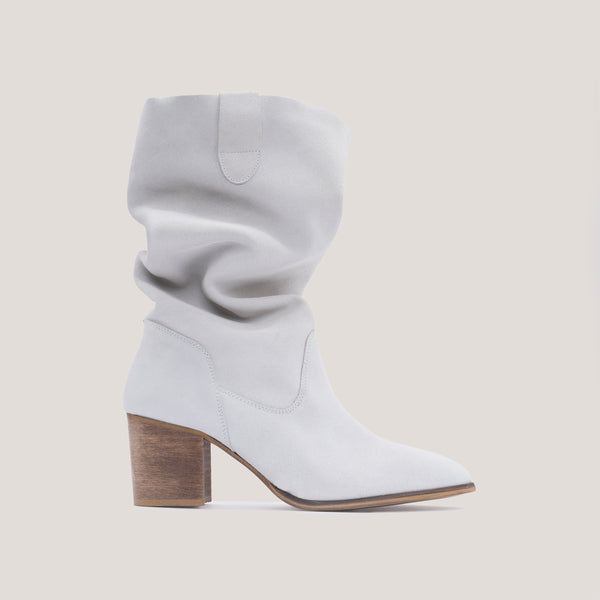 White leather high boot - VALENTINA - Bryan Stepwise