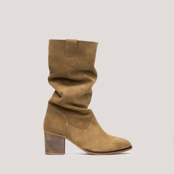 Soft brown leather hight boot VALENTINA - Bryan Stepwise