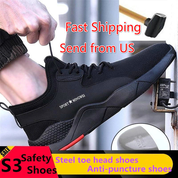 S3 Level Men's Steel Toe Safety Shoes