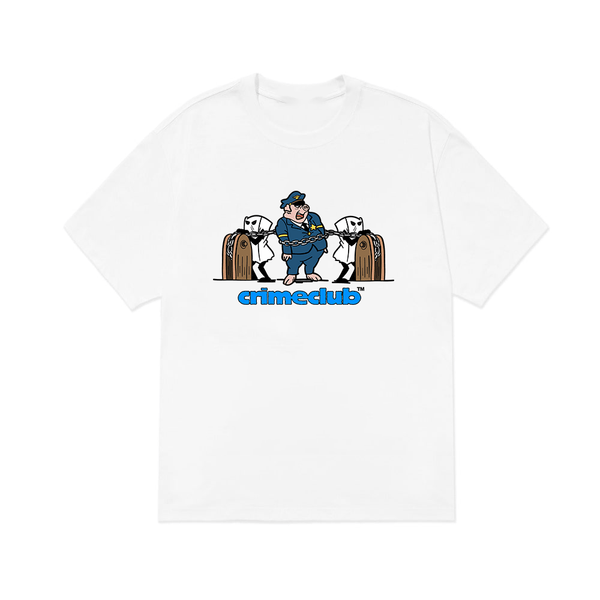 TRAP A PIG  WHITE TEE - crimeclubmfg