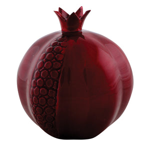 Aluminium with Dark Red Enameled Pomegranate 14 cm