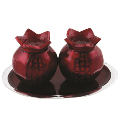 Aluminium Salt and Pepper Shakers with Saucer