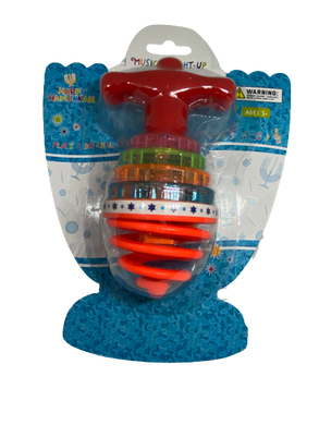 Musical light up bouncing dreidel