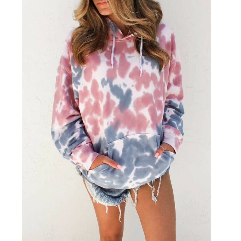Sexy printed pocket long sleeve sweater top