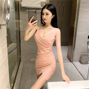 Slim Fit Slim Bottoming Hip Sling Dress