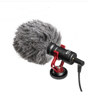 Recording Universal Capacitor Microphone +Video Light+Phone Holder