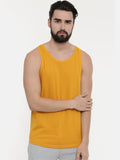 Black - Mustard Sleeveless T-Shirt