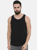Maroon - Black Sleeveless T-Shirt