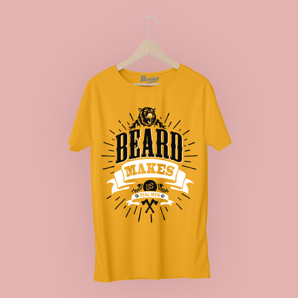 Beard Makes Us Real Man T-Shirt - Bushirt