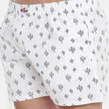 White Printed Boxer