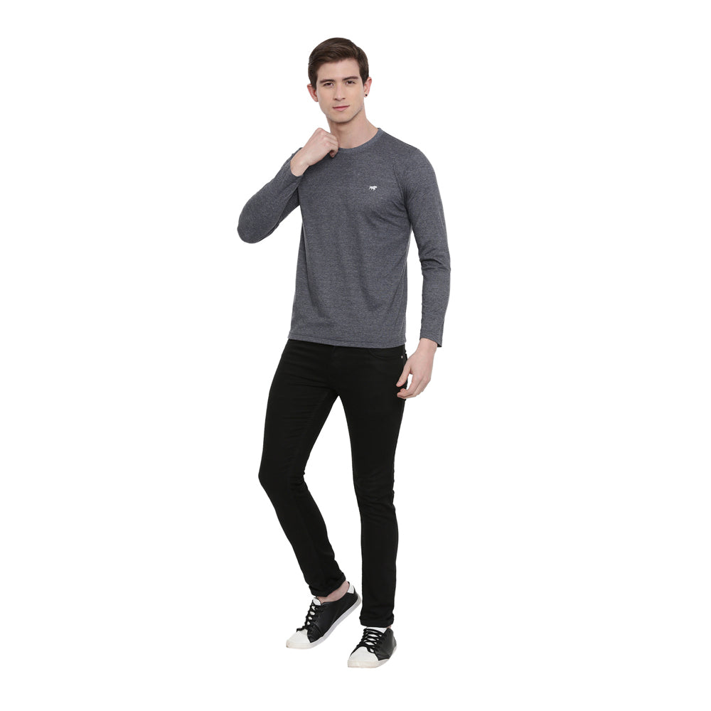 Dark Grey Full Sleeves T-Shirt
