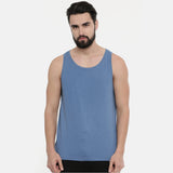 Turquoise Blue Sleeveless T-Shirt - Bushirt