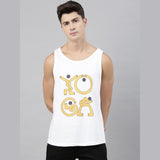 Yoga White Sleeveless T-Shirt - Bushirt