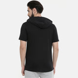 Black Half Sleeves Hoodies