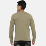 Pickle Green Full Sleeves Solid T-Shirt