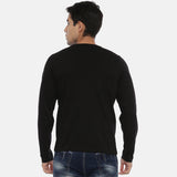 Black Full Sleeves Solid T-Shirt - Bushirt