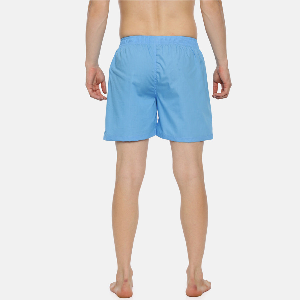 Sky Blue Solid Boxer