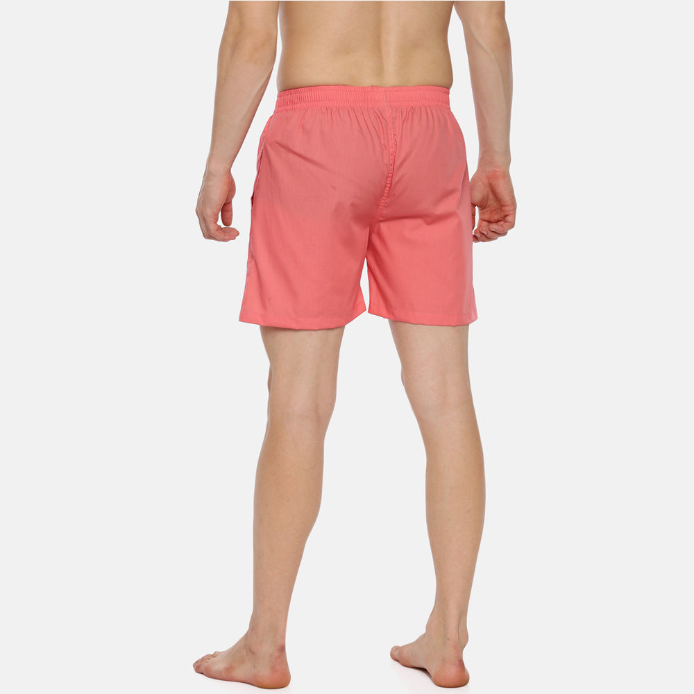 Peach Solid Boxers