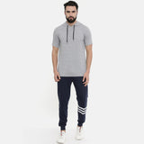 Millange Grey Half Sleeve Hoodies