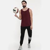 Maroon Sleeveless T-Shirt