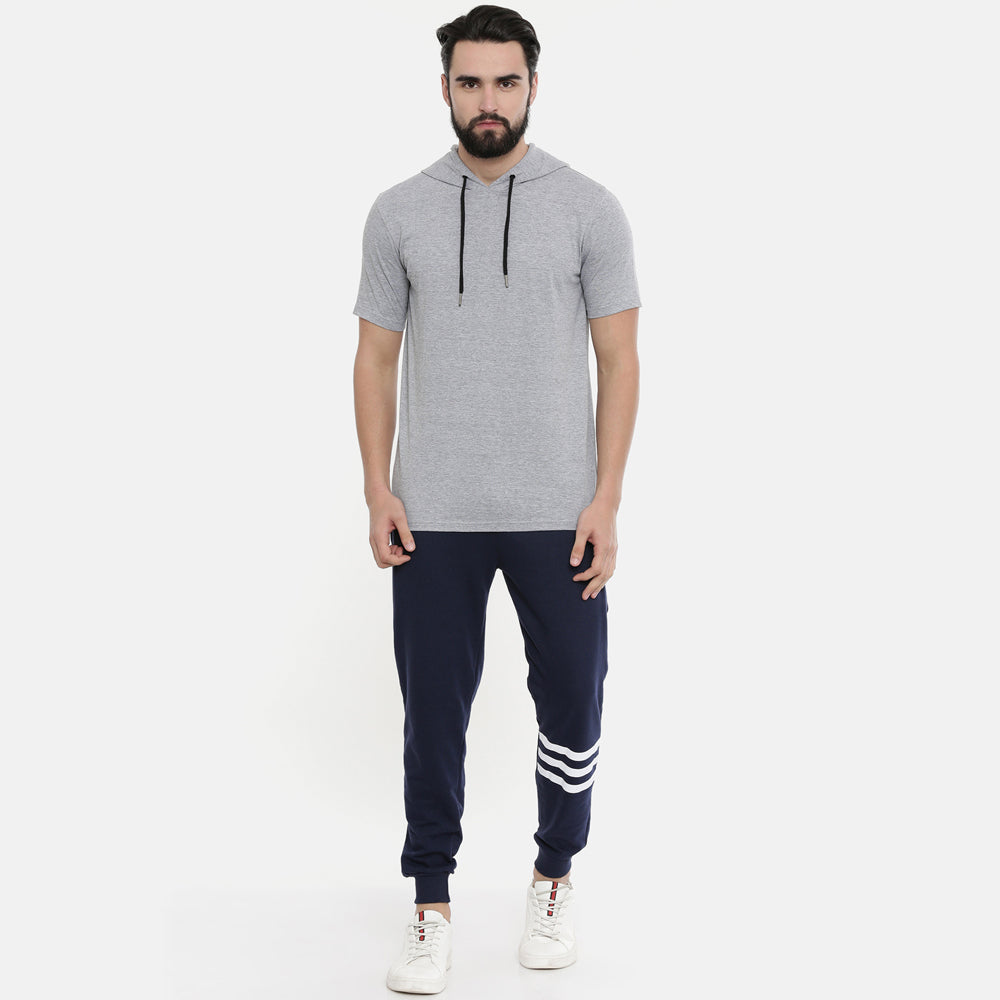 Navy Blue Men Joggers - Bushirt