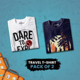 Travel Printed T-Shirts - Pack Of 2 - Bushirt