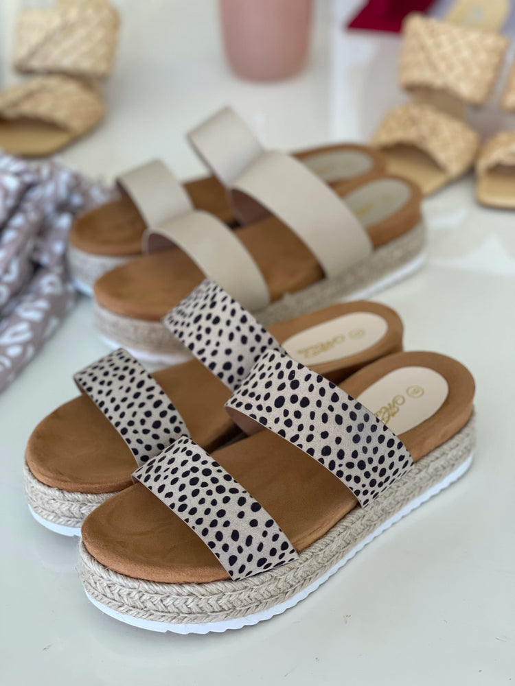 Headed Places Cheetah Print Wedges