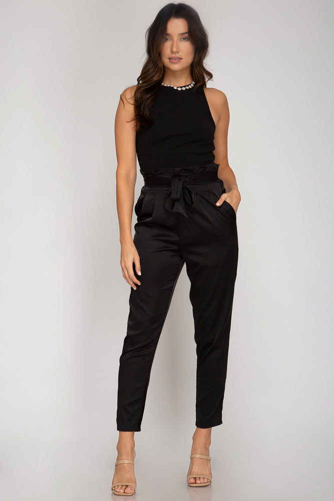 Sleek in Silk Pants