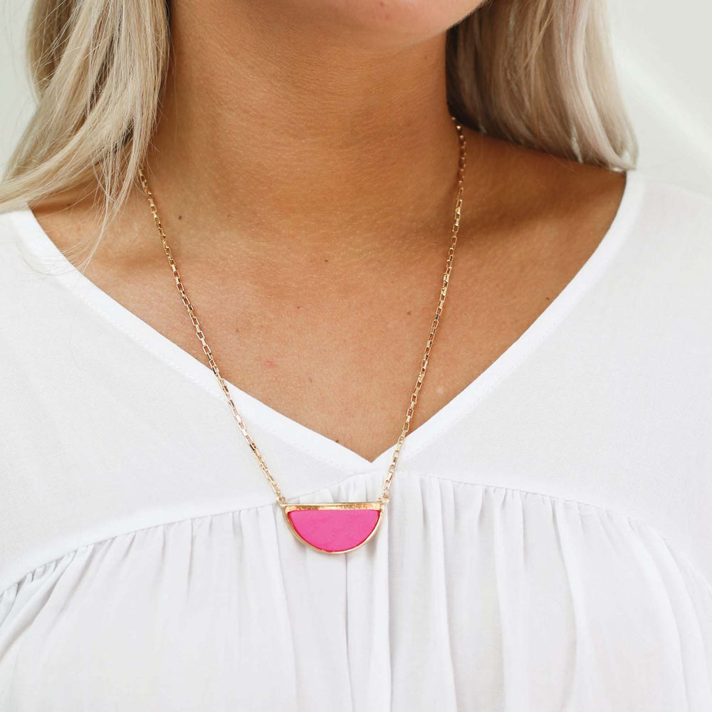 Channa Necklace-Pink