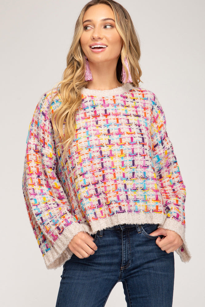 Tickled in Confetti Sweater