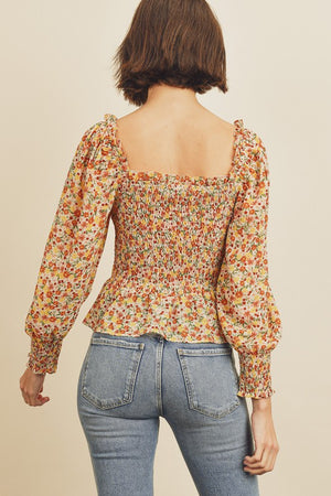 Walking in Floral Paradise Blouse