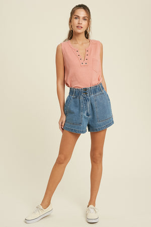 Calm Waters Denim Shorts