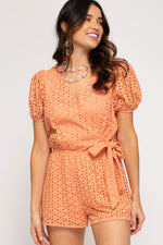 Dreaming into Eyelet Romper