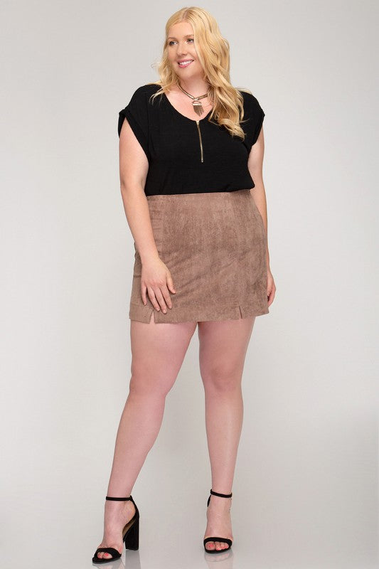 Cinnamon Spice Mini Skirt