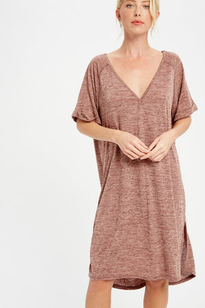 Load image into Gallery viewer, Pretty in the Plum T-Shirt Dress