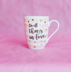 Load image into Gallery viewer, Do All Things in Love Coffee Mug