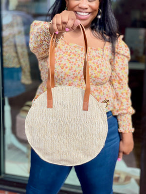 Load image into Gallery viewer, Tefiti Straw Bag With Crossbody Strap Ivory