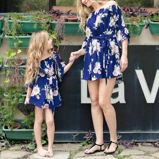 Mommy and Me Matching Floral Dress