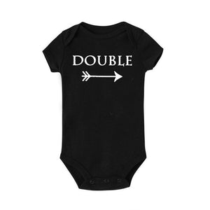 Double and Trouble Twins Baby Jumpsuit